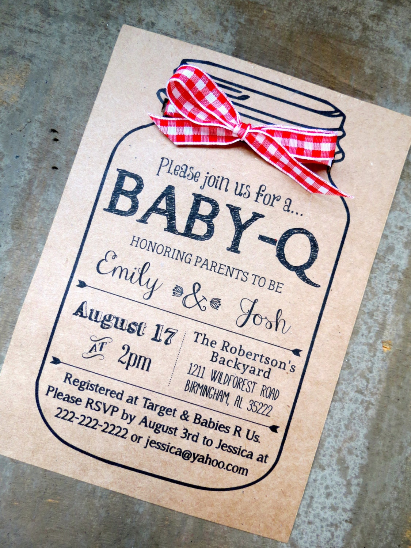 baby q baby shower invitation and envelopes kraft brown bag