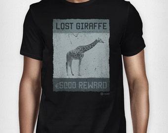 Lost Giraffe T Shirt: Black
