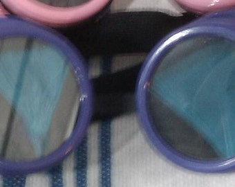 PURPLE Cyber Punk Goggles Hand Customised FREE UK delivery