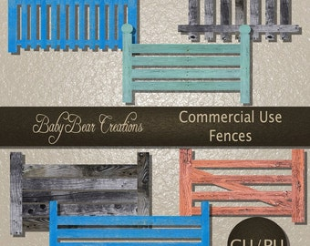 6 Wooden Fences. Commercial Use