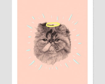 All Hail Cat Giclee | Fine art Print