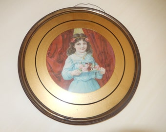 ANTIQUE FRAME and PRINT