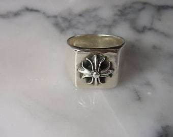 Ring Chain Cross Lilly Hearts Chrome pendant French Lilly 925