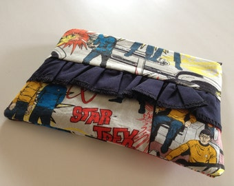 Star Trek Comic Ruffle Zipper Pouch Cosmetic Bag Make Up Bag Coin Purse