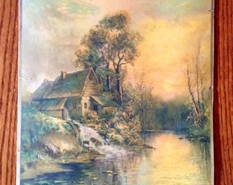 Antique Sawmill W.H. Chandler Pastel painting