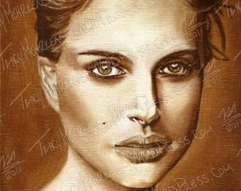 Natalie Portman 8x10 in. Oil Paint on Canvas Panel, 2012