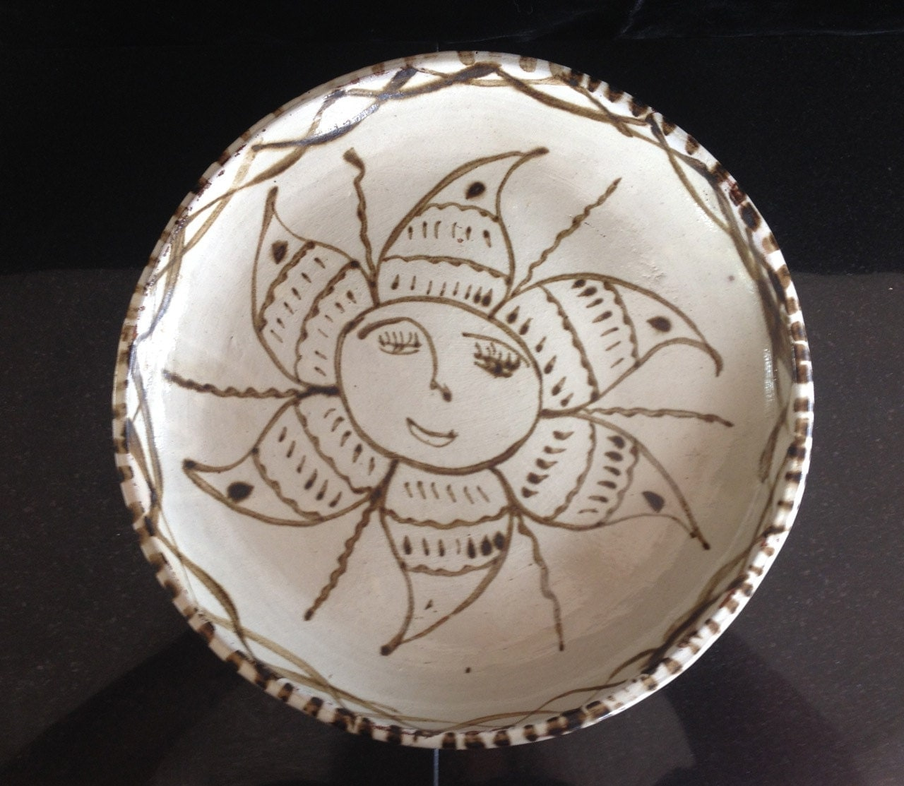 Decorative Mexican Hand Thrown 10 Inch Plate With By