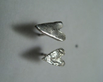 Silver 925 's earrings.  Little and lovely handmade earrings from the HEARTS INVATION set!