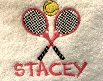 Tennis Personalized Sports Towel