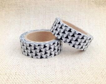 Black Fin Washi Tape, Japanese Masking Tape, Shark
