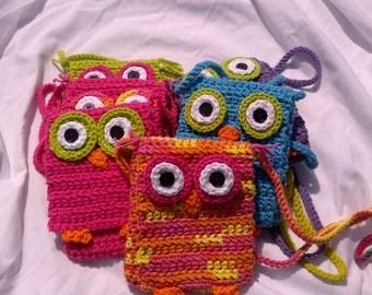 Hand Crocheted Owl Bag