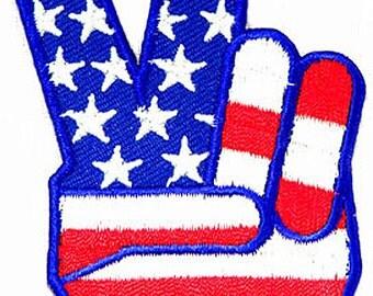 USA V for VICTOR...V For Victory Sign
