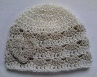 Crochet Baby Kids Toddler Hat Beanie children gift girl heart