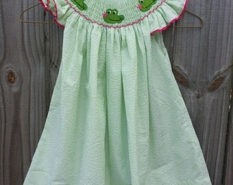 Smocked Alligator Bishop Dress