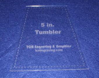 "Quilt Templates-Tumbler 5"" w/Seam Allowance - 1/8"" Clear Acrylic"