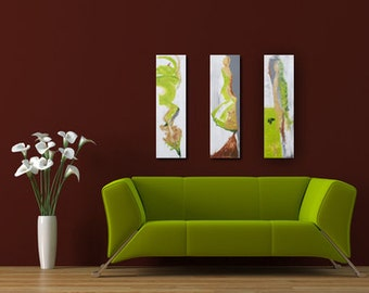 """abstract acryl painting """"dance"""" triptych"""