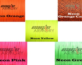 100 ft Paracord combo, 5 neon colors 20 feet each Type III, Combo USA Made, NEW!