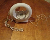 Vintage 1970's White Doughnut Sculptural Telephone