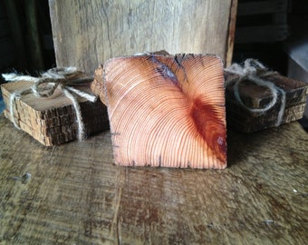 Vintage reclaimed barnwood coasters (set of 4)