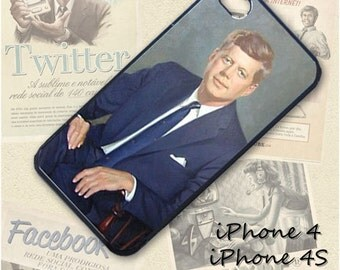 John F. Kennedy cell phone Case / Cover for iPhone 4, 5, Samsung S3, HTC One X, Blackberry 9900, iPod touch 4 / 286