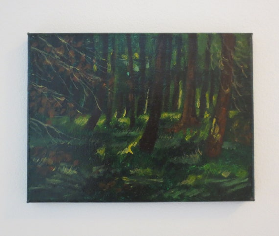 Acrylic painting 39 forest 39 for Painting a forest in acrylics
