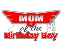 Planes Birthday MOM Iron On Transfer T-Shirt, Birthday Boy, Planes Party, Planes Printable