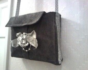 Norma's Sliver Gray Shoulder Bag