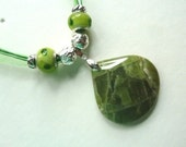 Olivine Handmade One-of-a-kind Gemstone Pendant Necklace with beading
