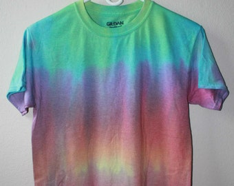 Unisex Tie Dye Shirt-Transition of colors