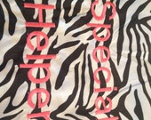Special Helper Zebra and Pink Chair Pocket (1 Chair Pocket)