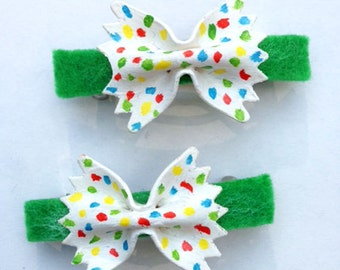 Bow Tie Pasta Hair Barrettes