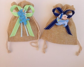 Party favors, candy bags, baby shower, (custom made available)