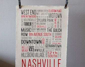 Nashville Neighborhoods - Canvas Print
