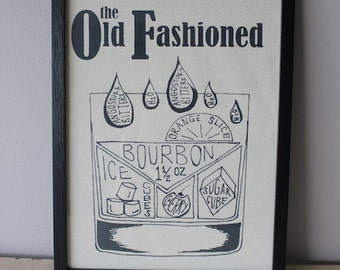 Old Fashioned Recipe - Canvas Print