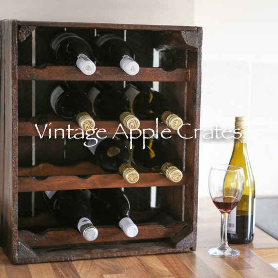 crate wine rack vintage apple crate wine rack by vintageapplecrates on etsy 30215