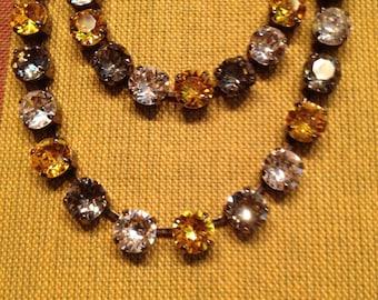 Steelers swarovski necklace/ bracelet combo