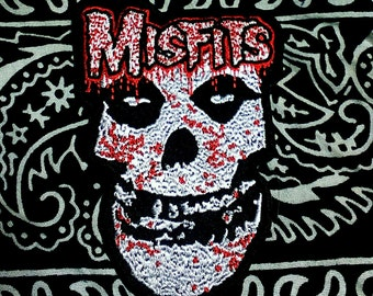 "Vintage 1980's ''The Misfits"" Embroidered Iron -On Patch"