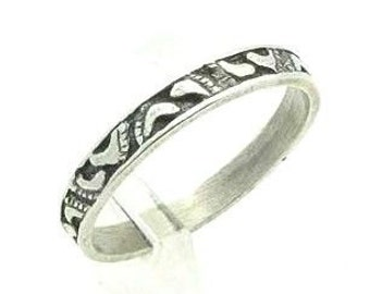 Sterling silver 925 Ring Footprint