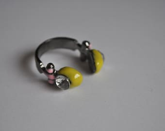 Headphone Yellow Adjustable Ring