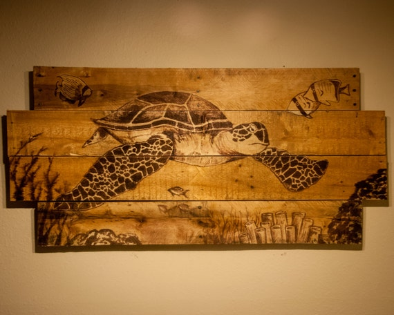 Swimming Sea Turtle Made From 100 Recycled By Simplypallets