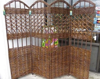 "Willow Screen, 4 Panel Divider, 72"" W x 60""H, WSC-60-4"