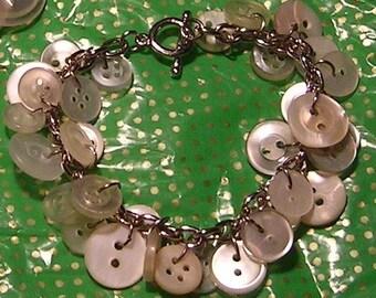 100% Recycled Button Bracelet