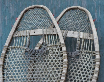 Genuine Vintage, native made, child's snow shoes -- Free Shipping!
