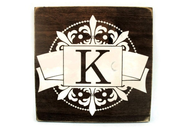 Rustic Monogram Wall Decor : Rustic wood monogram sign wall hanging home decor all
