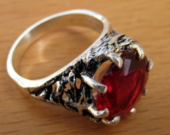 Ruby Crown of Thorns Ring