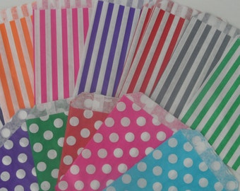 Candy Striped Polka Dot Sweet Shop Bags