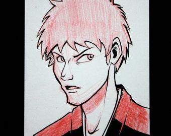 Bleach Ichigo Kurosaki Sketch Card - Original Art