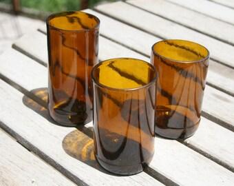 Recycled Beer Bottle Glasses, Juice Glasses - Set of 4