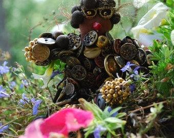 Folk Art Button Doll - Rosa Parks