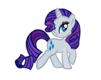 My Little Pony Rarity Embroidery Design - Instant Download
